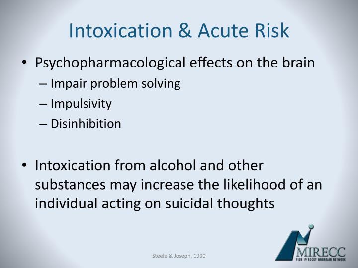 Intoxication & Acute Risk