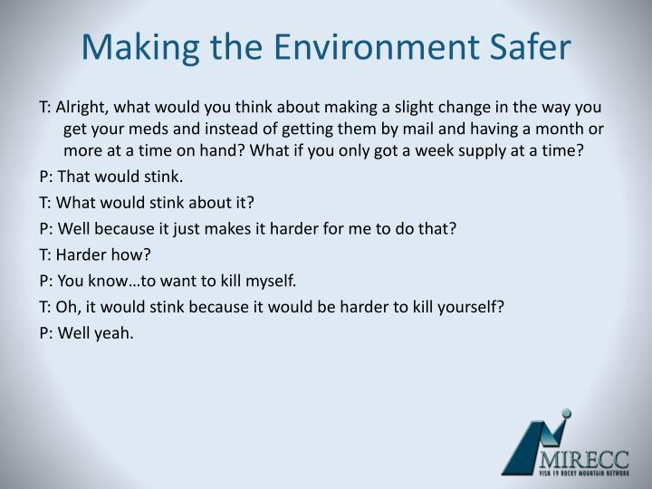 Making the Environment Safer