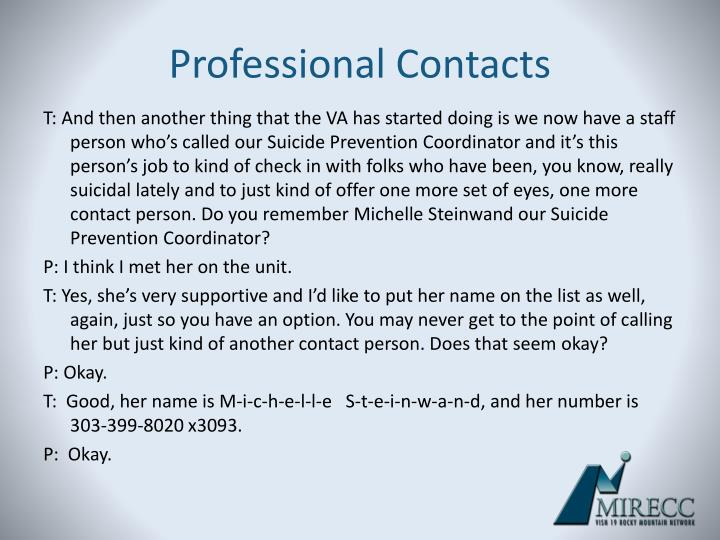 Professional Contacts
