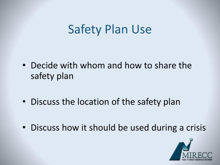 Safety Plan Use