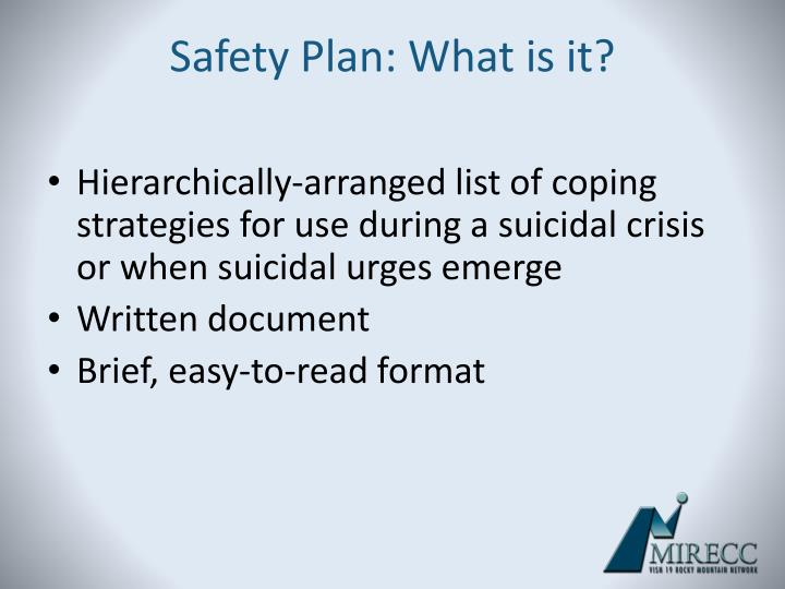 Safety Plan: What is it?