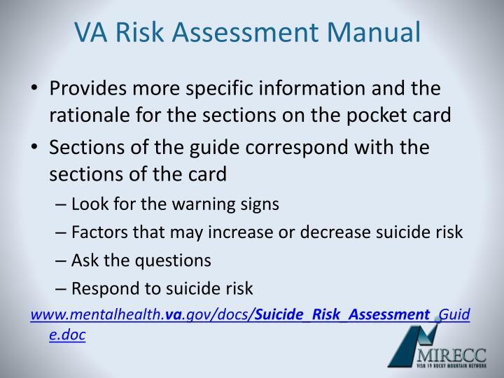 VA Risk Assessment Manual