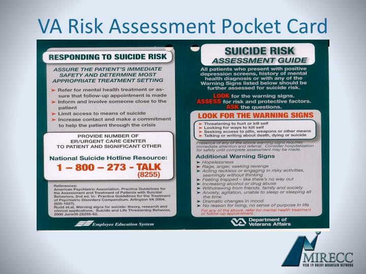 VA Risk Assessment Pocket Card