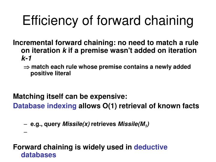Efficiency of forward chaining