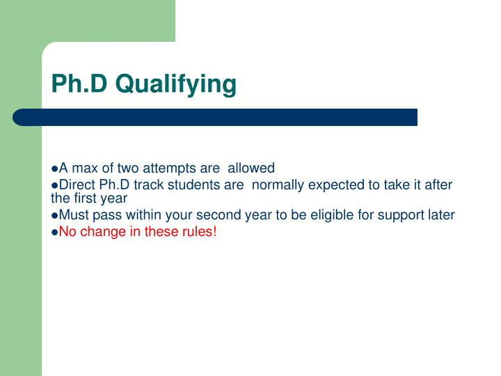 Ph.D Qualifying