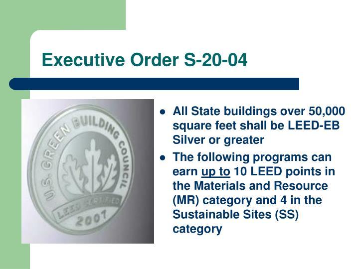 Executive Order S-20-04