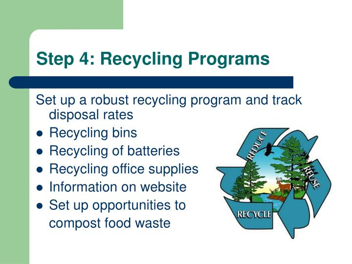 Step 4: Recycling Programs