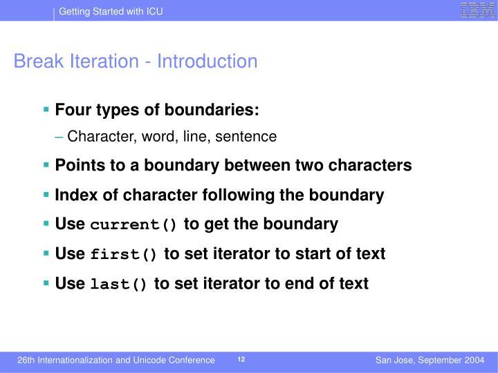 Break Iteration - Introduction