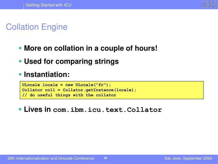 Collation Engine