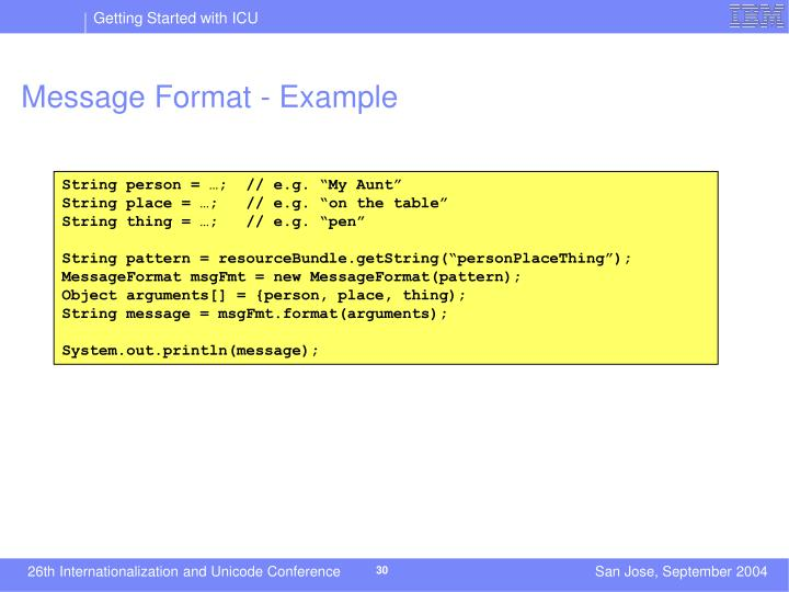 Message Format - Example
