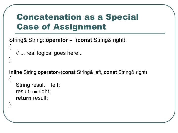 Concatenation as a Special