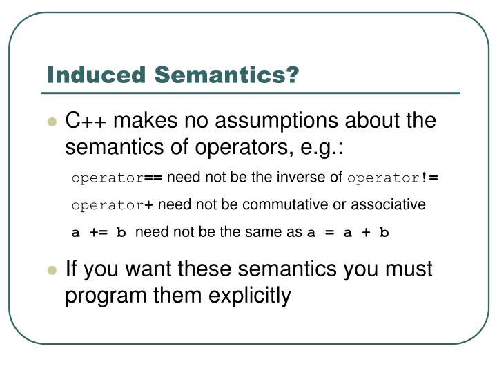 Induced Semantics?