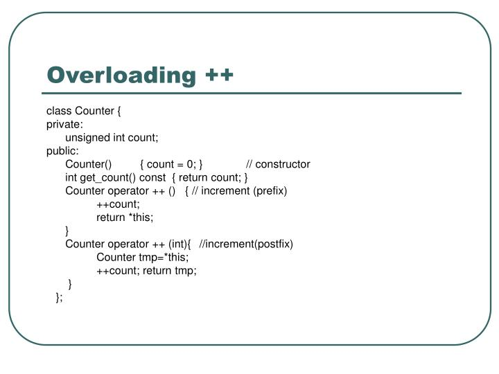 Overloading ++