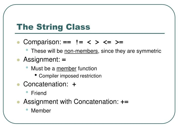 The String Class