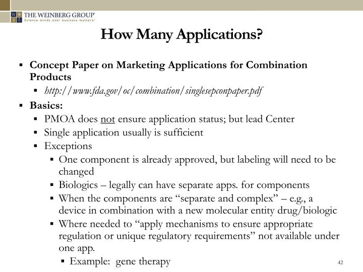 How Many Applications?