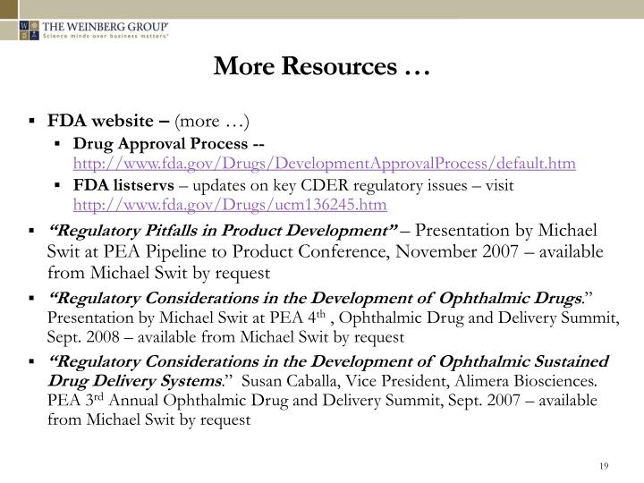 More Resources …