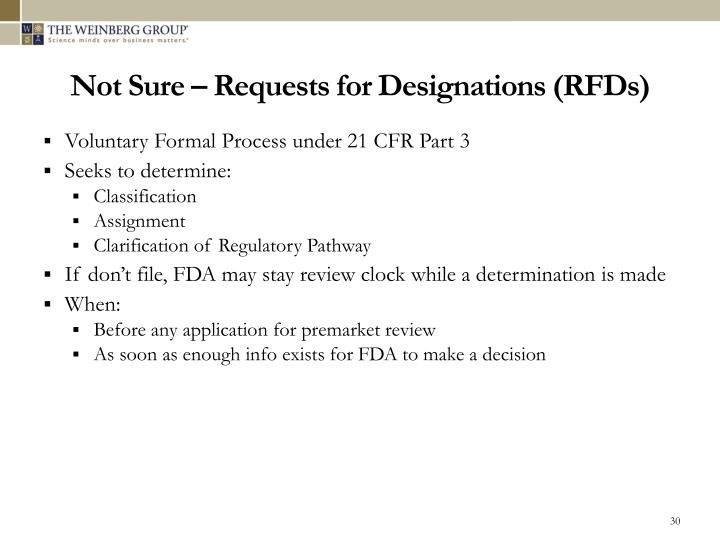 Not Sure – Requests for Designations (RFDs)