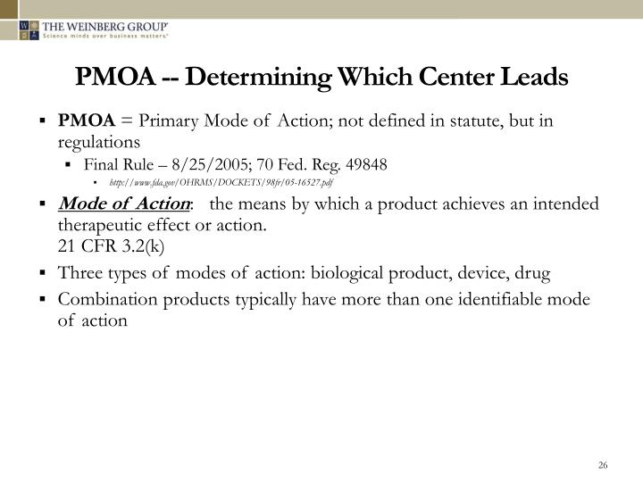 PMOA -- Determining Which Center Leads