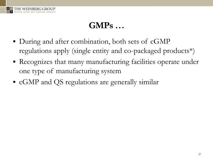 GMPs …