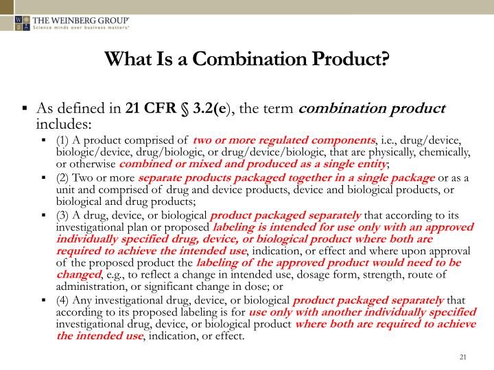 What Is a Combination Product?