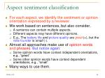 aspect sentiment classification