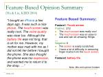 feature based opinion summary hu liu kdd 2004