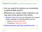 opinion search liu web data mining book 2007