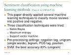 sentiment classification using machine learning methods pang et al emnlp 02