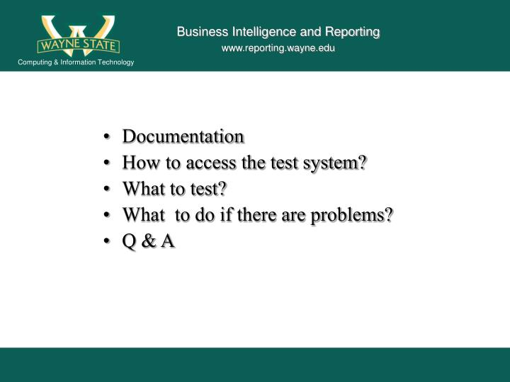 Business Intelligence and Reporting