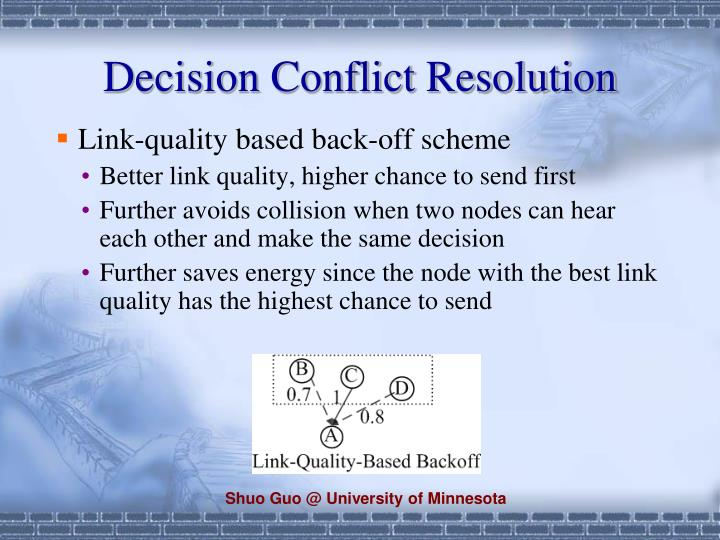 Decision Conflict Resolution