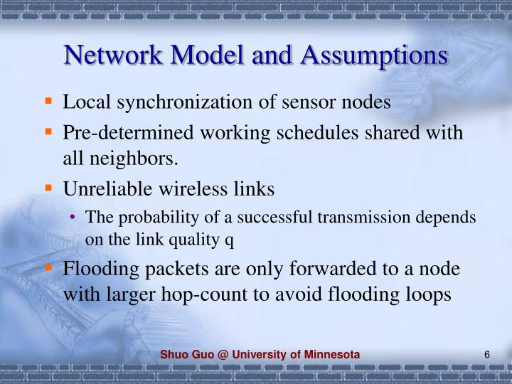 Network Model and Assumptions