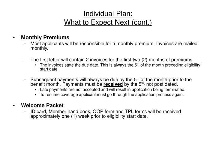 Individual Plan: