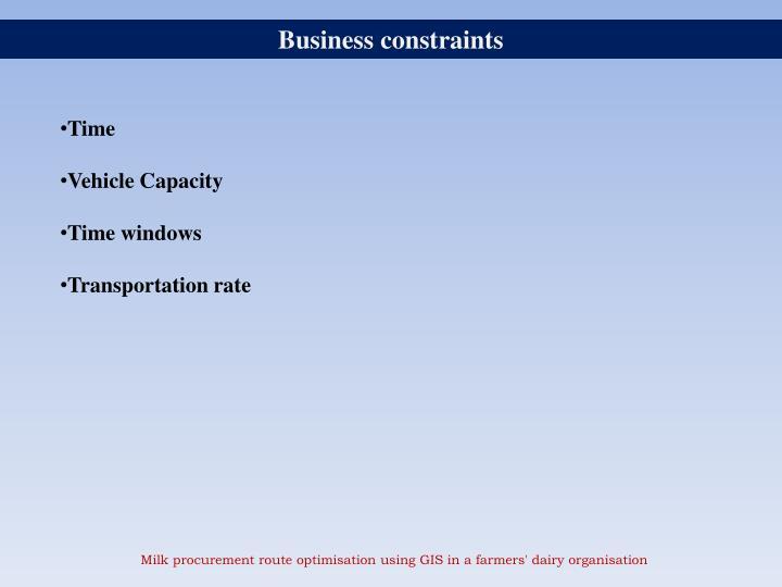 Business constraints