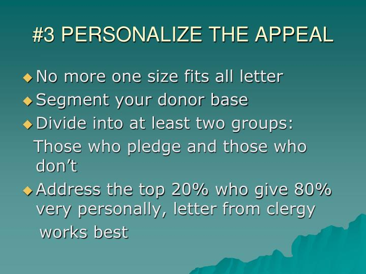#3 PERSONALIZE THE APPEAL