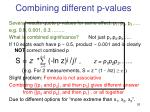 combining different p values