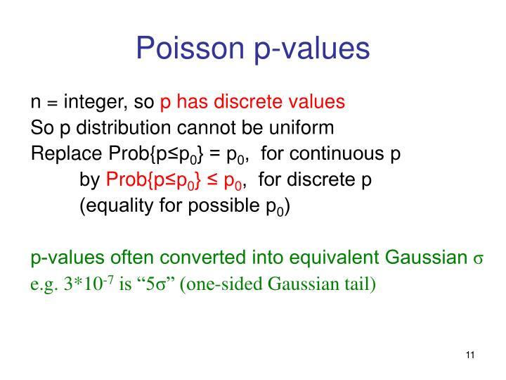 Poisson p-values