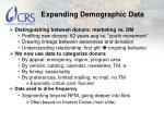 expanding demographic data