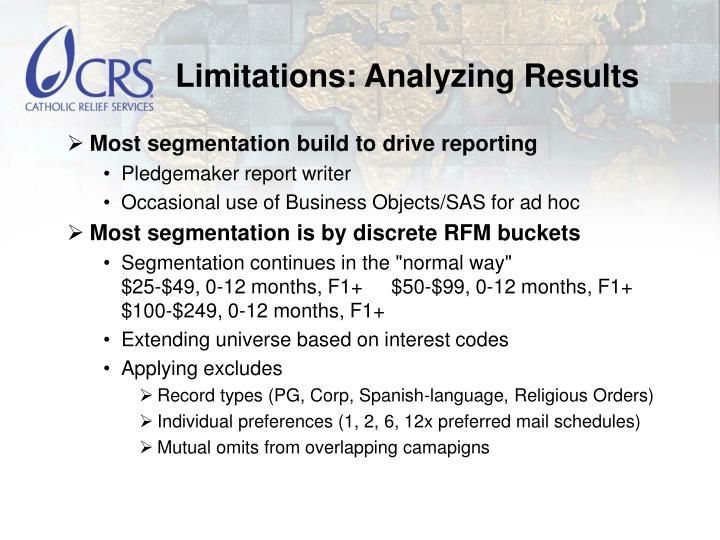 Limitations: Analyzing Results