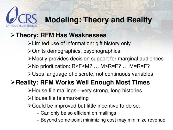 Modeling: Theory and Reality