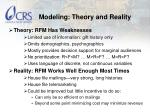 modeling theory and reality