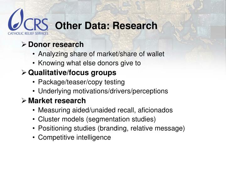 Other Data: Research
