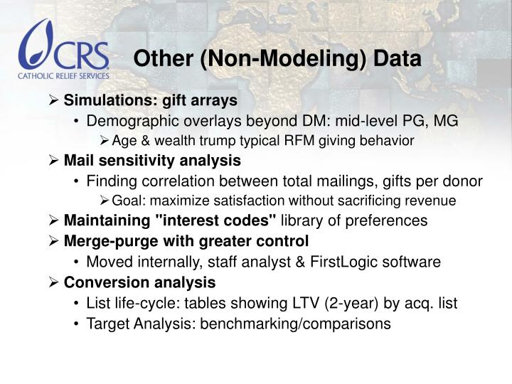 Other (Non-Modeling) Data