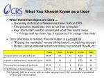 what you should know as a user