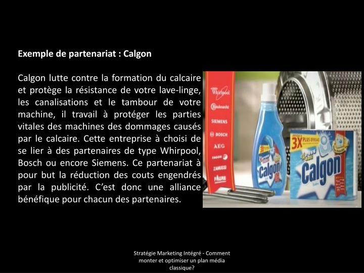 Exemple de partenariat: Calgon