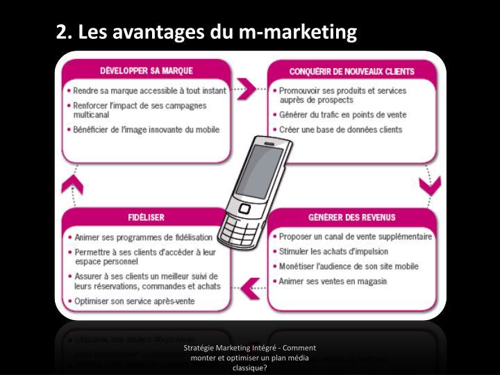2. Les avantages du m-marketing