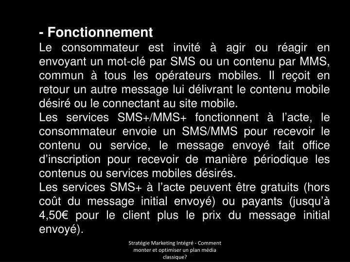 - Fonctionnement