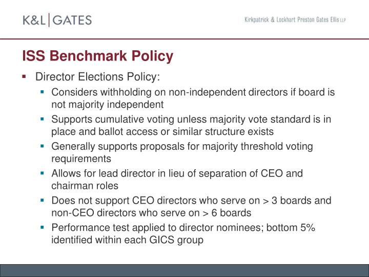 ISS Benchmark Policy