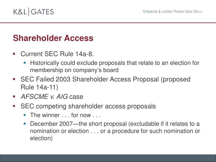 Shareholder Access