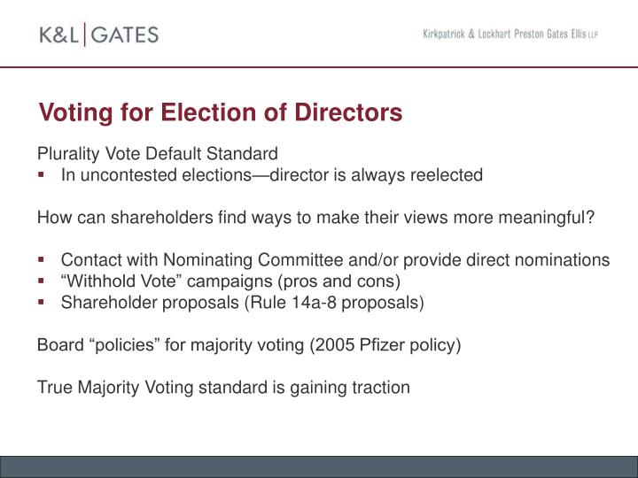 Voting for Election of Directors