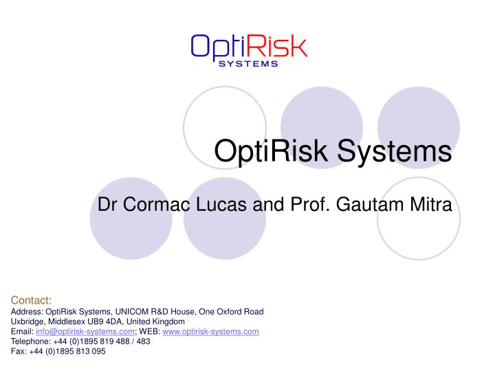 optirisk systems